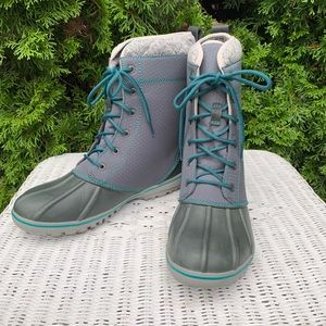 Land's End Duck Boots Gray Womens Size 10M
